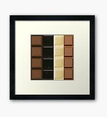 chocolate bars patchwork Framed Print