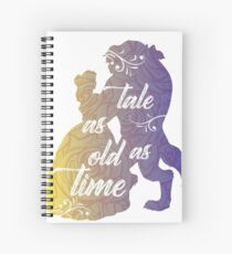 Beauty and The Beast- Tale as old as time Spiral Notebook
