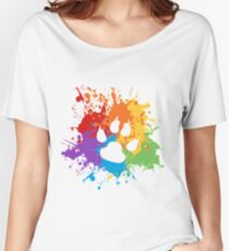 Paw Pride: Light Women's Relaxed Fit T-Shirt