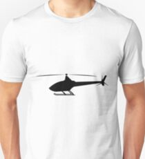 Helicopter Clipart By DG-RA Silhouette Unisex T-Shirt