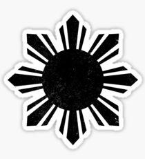 Black Flag Philippines Sun  Sticker