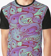 Dinosaur Pattern in purple Graphic T-Shirt