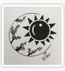 Sun & Vines Circle Art Sticker