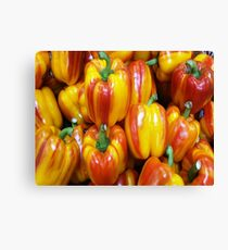 RED / YELLOW PEPPERS Canvas Print