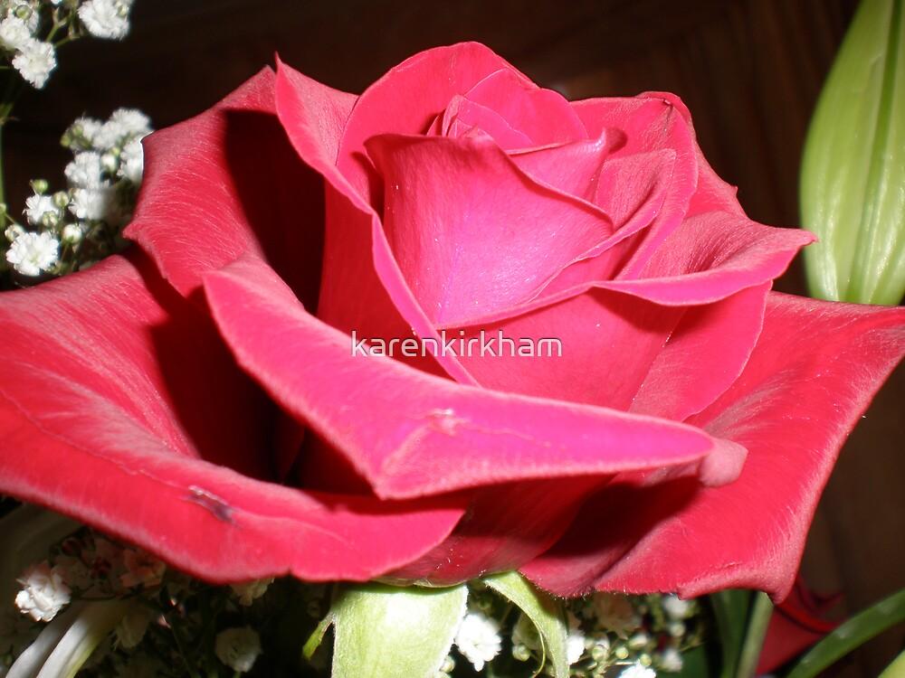 Red rose by karenkirkham