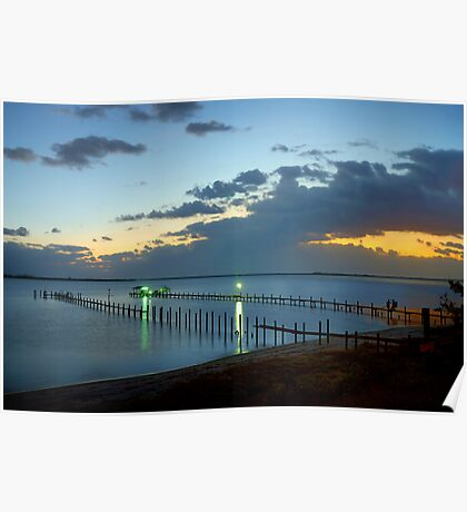Sunrise On Indian River Poster