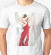 Oil Pastel on Canvas T-Shirt