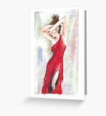 Oil Pastel on Canvas Greeting Card