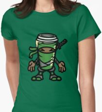 Coffee ninja or ninja coffee? -  green Womens Fitted T-Shirt
