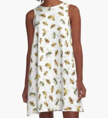 Honey to the Bee (White) A-Line Dress
