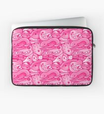 Dinosaur Pattern in Pink Laptop Sleeve