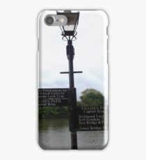 Richmond Surrey towpath signpost iPhone Case/Skin