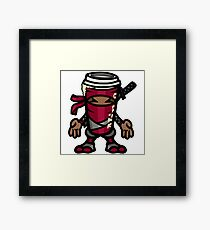 Coffee ninja or ninja coffee? - red Framed Print