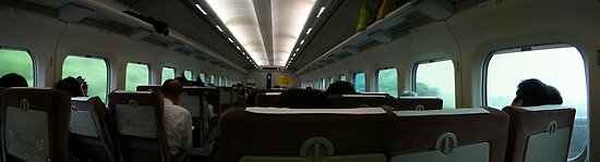 On the Bullet Train - Japan Shinkansen by Craftymizz