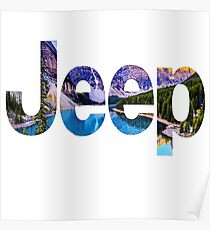 Jeep Scenery Logo Poster