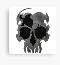 Reckless Skull Canvas Print
