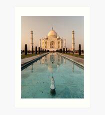 Taj Mahal Reflection India Art Print