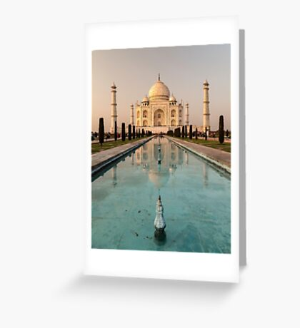 Taj Mahal Reflection India Greeting Card