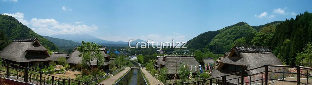 Samurai Village with Mount Fuji, Japan by Craftymizz