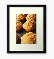 Pumpkin Muffins Framed Print