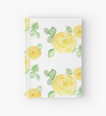Watercolor yellow roses Hardcover Journal