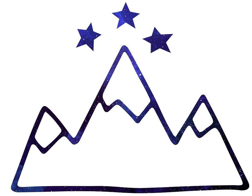 Night Court Symbol Mountains And Stars By Angelina Werner Redbubble