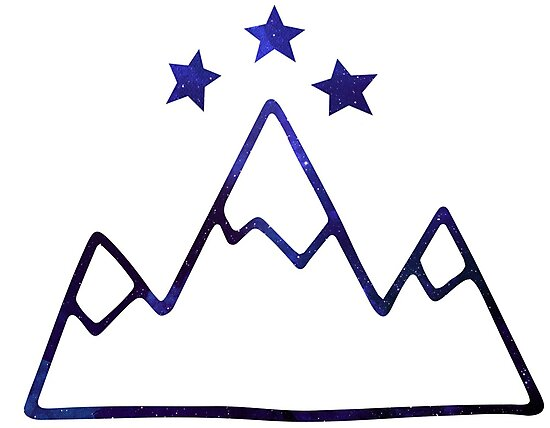Night Court Symbol Mountains And Stars Photographic Prints By