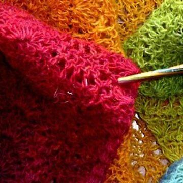 rainbow yarn by GreenTeacup