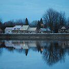 Twilight Across the Water by Sandra Fortier