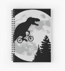 ET feat Jurassic Park - Moon Scene Spiral Notebook