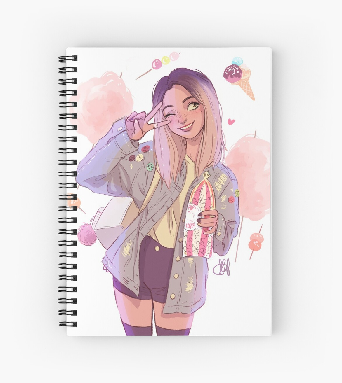 """Sweeter Than Sweet: """"Sweeter Than Sweet"""" Spiral Notebooks By Itslopez"""