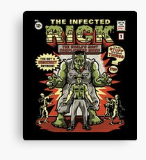 The Infected Rick Canvas Print