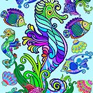 Marine Life Exotic Fishes & SeaHorses Ornamental Style by BluedarkArt