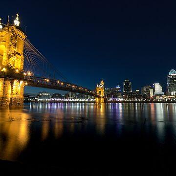 Roebling Bridge Cincinnati, Ohio & Covington Kentucky by pieperview