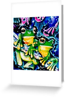 two frogs  by Pipsilk