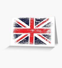 Vintage UK British Flag design Greeting Card