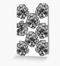 poppy graphic spring design nature illustration flower BW Greeting Card