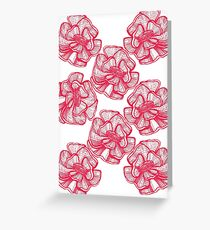 poppy graphic spring design nature illustration flower RED Greeting Card
