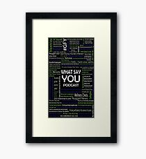 What Say You Podcast Quotes Framed Print