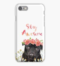 Stay Awesome Pug iPhone Case/Skin