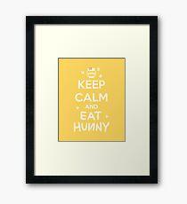 KEEP CALM - Keep Calm and Eat Hunny Framed Print