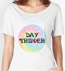 Day Tripper (Black) Design Women's Relaxed Fit T-Shirt