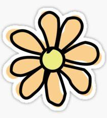 Peach Flower Sticker