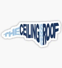 The Ceiling Is The Roof (Shape) (Light Blue/Dark Blue) Sticker