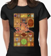 Jak and Daxter Grid Women's Fitted T-Shirt