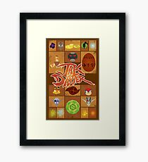 Jak and Daxter Grid Framed Print