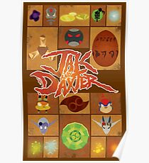Jak and Daxter Grid Poster
