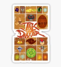 Jak and Daxter Grid Sticker