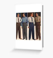 Men Fashion 1940s / 326053 Greeting Card