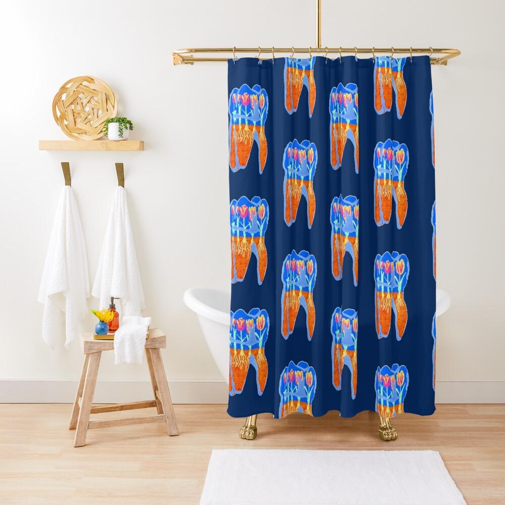 Tooth Terrarium 2 Shower Curtain